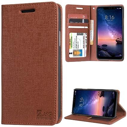 925e6a2f8bf DMG Leather Flip Cover for Redmi Note 6 Pro