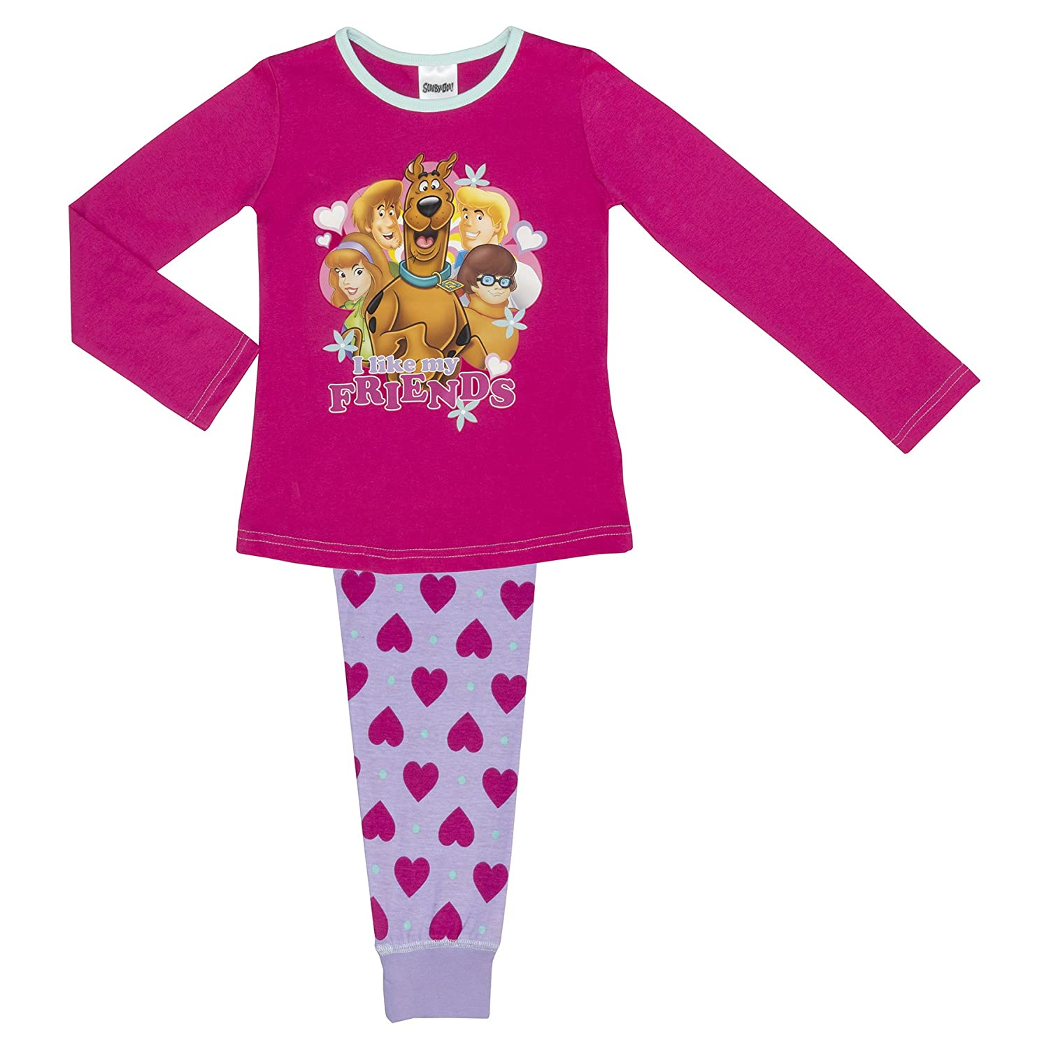 6b27909fa1 Cartoon Character Products Warner Brothers Scooby Doo Girls Pyjamas - Age  3-10 Years - 9-10 Years Pink Lilac  Amazon.ca  Clothing   Accessories