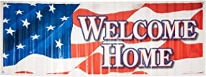 Welcome Home Sign Banner Party Accessory (1 count) (1/Pkg)