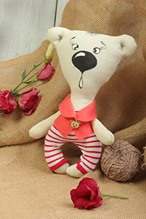 Juguete hecho a mano de tela regalo para nino muneco artesanal osito de peluche