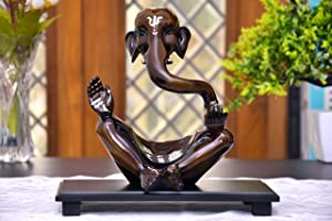 Modern Art Ganesha Idol with Wooden Tray Ganesha Idol for Home Decor,House Warming Gift | SHOWPIECE for Home Decor | Statue for Home Decor | Ganesha for Gift