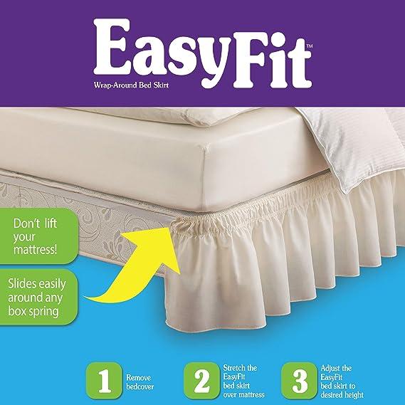 Singa-Z Printed Bed Skirts Non-Slip Bed Skirt Queen Bed Skirt