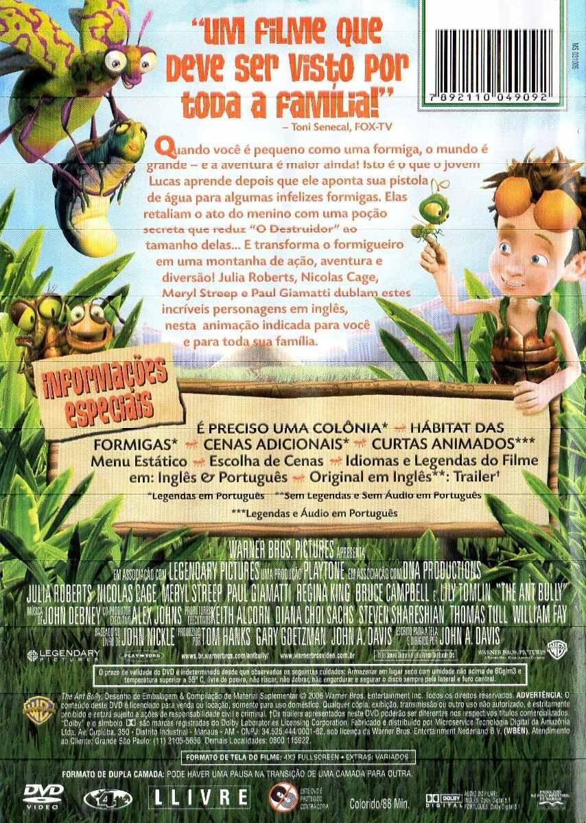 ... Estranho no Formigueiro [ The Ant Bully ] [ Audio and Subtitles in English + Brazilian Portuguese ] [ Import / Region 4 ]: NICOLAS CAGE, JULIA ROBERTS, ...
