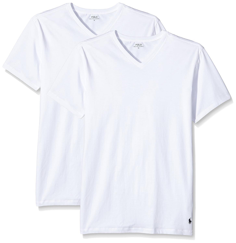 Ralph Lauren - Camiseta para hombre v neck, Blanco (2Pk White ...