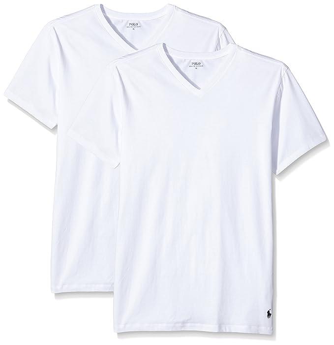 Ralph Lauren 252-U2PVK, Camiseta Interior para Hombre, Blanco (2Pk White)