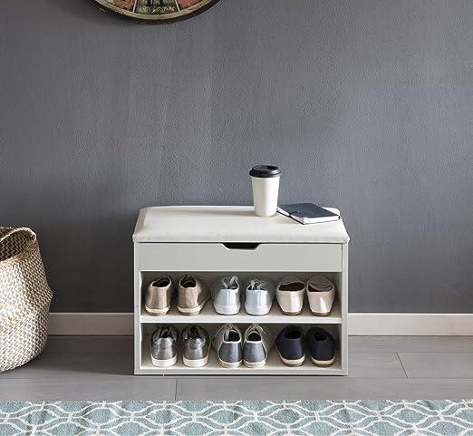 wohnnling zapato Banco con asiento, perchero nbank, madera ...
