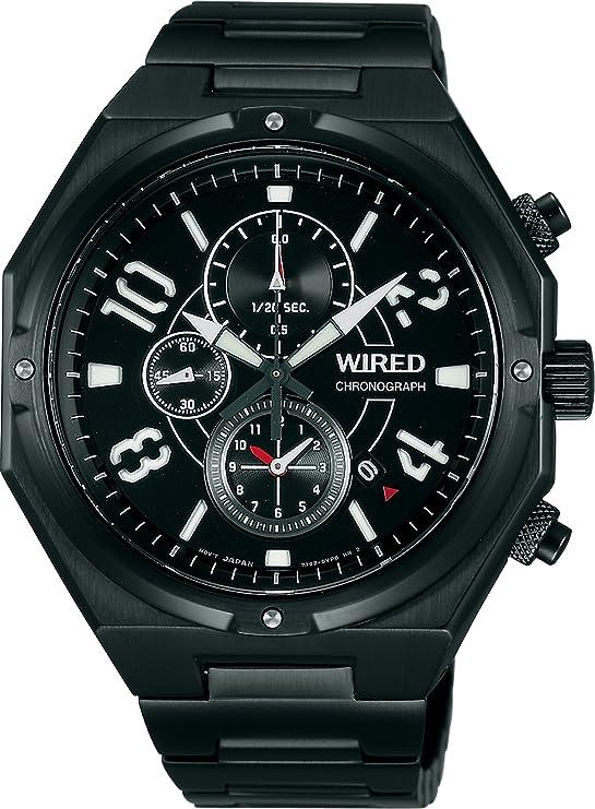 [セイコーウォッチ] 腕時計 ワイアード RIGID リジッド クロノグラフ クオーツ カーブハードレックス AGAV077 ブラック