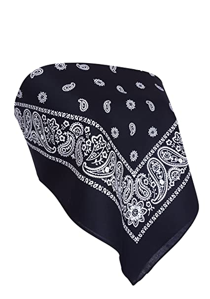 3fc766f0df Downright Bandanas Bandana Crop Top Shirt - Womens Clothing (Black ...