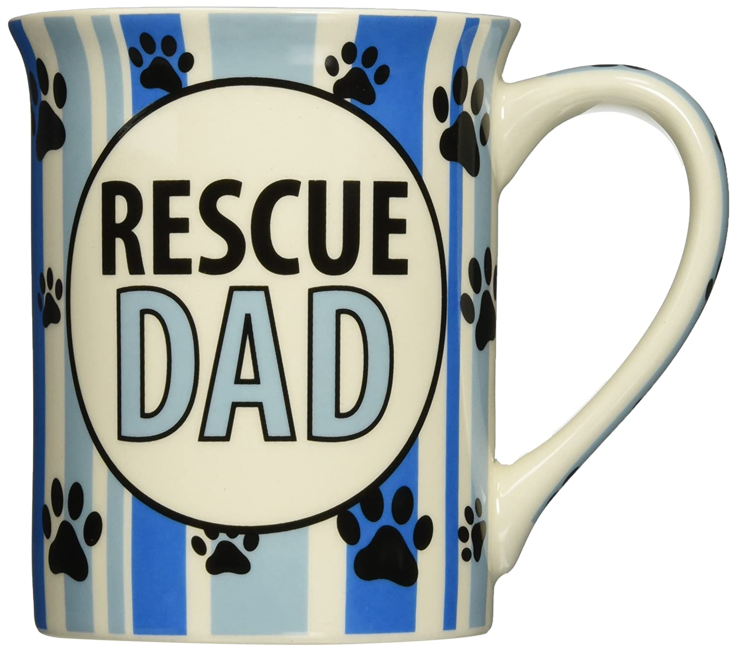 4.5 Enesco Our Name is Mud by Lorrie Vesey Rescue Dad Mug Blue 4.5 4048783