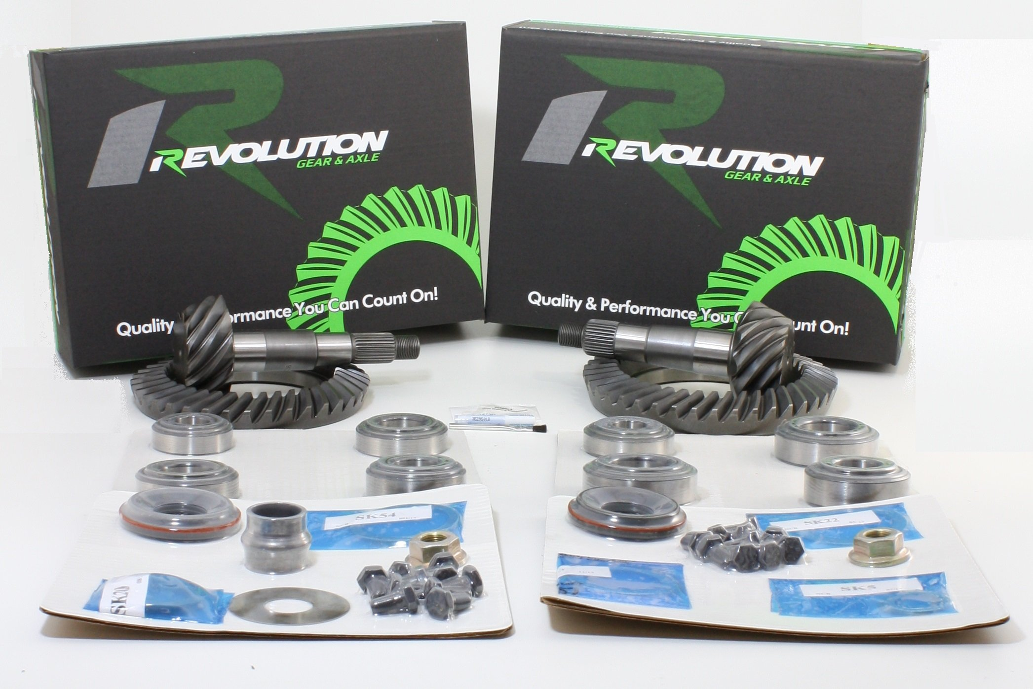 Revolution Gear & Axle - JK Non Rubicon (D44/D30) 4.88 gear package front & rear with master overhaul kits (Front case required for factory 3.21 ratio only)
