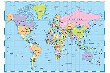 atlas weltkarte A2 Weltkarte Atlas Print 130 gsm Papier: Amazon.de: Bürobedarf  atlas weltkarte