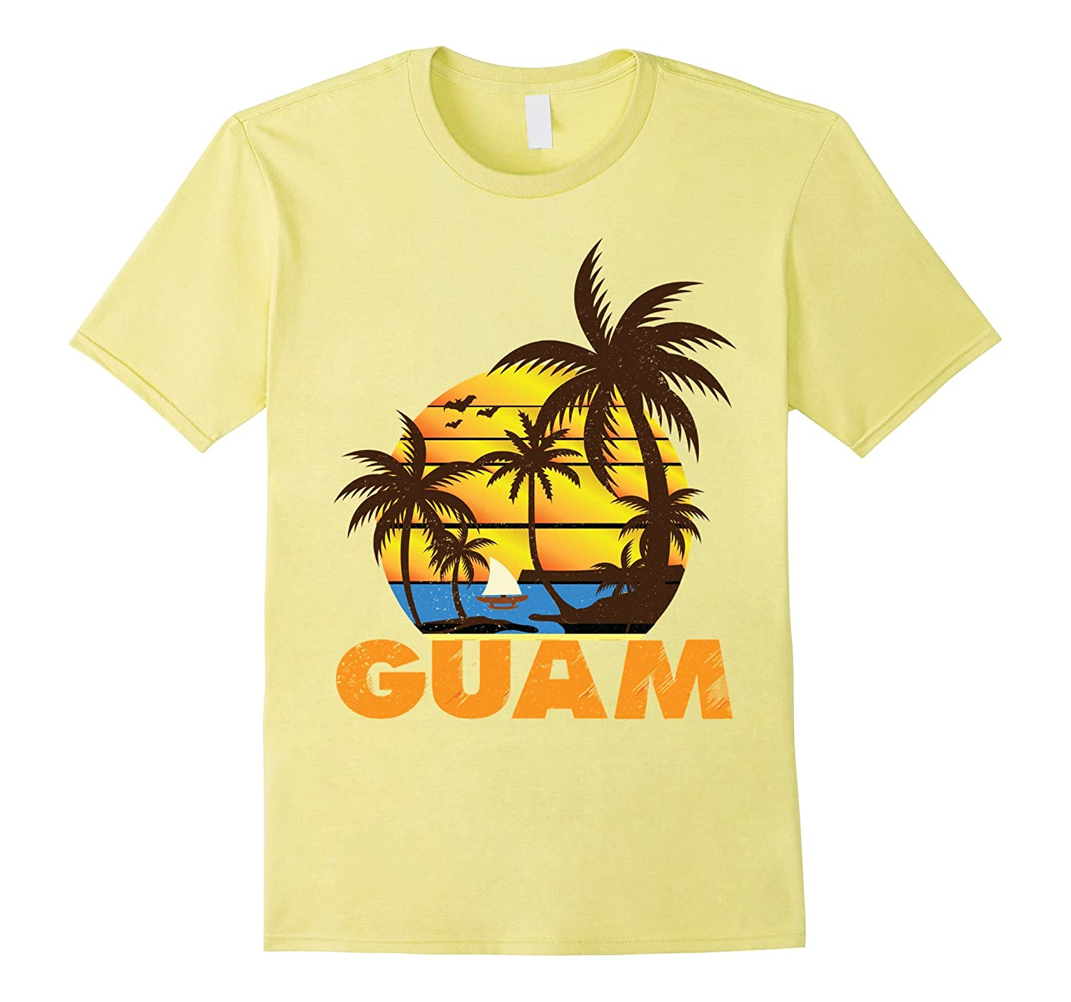 671 Guam USA Seal Retro Art Tshirt Guamanian Chamorro Tees-TJ