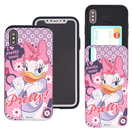 Amazon.com: iPhone X ranura para tarjeta funda Disney lindo ...