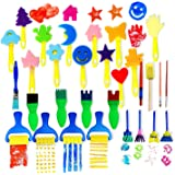 VAMEI 30pcs Kids Sponge Painting Brushes Drawing Tools for Children Early Painting DIY Arts Crafts