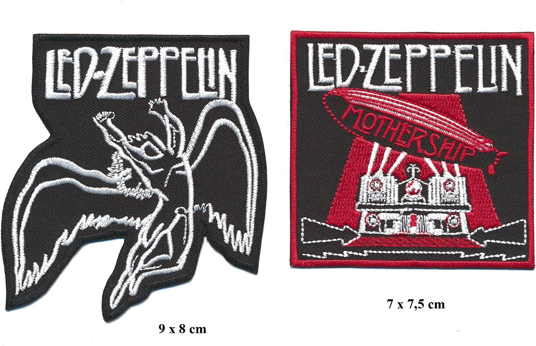 Led Zeppelin Aufn/äher Patches Aufb/ügler 2 St/ück Musik Rock Hardrock 70s