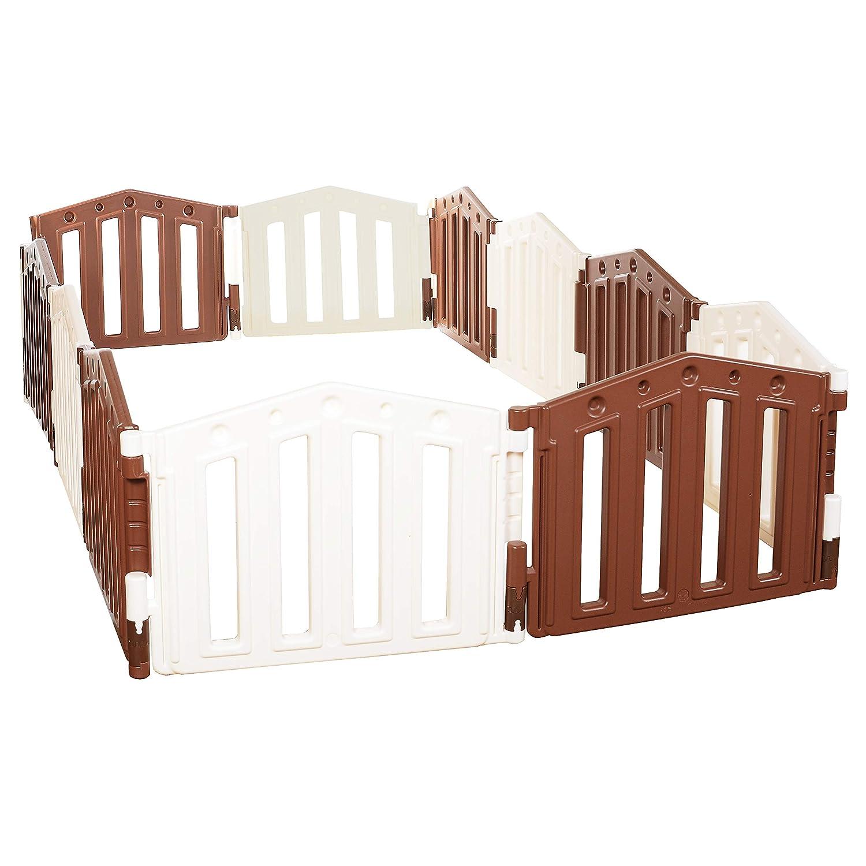 barrera de seguridad//Ventosas de goma//Sistema de calidad EN 71 certificado Parque infantil//beb/é Parque 12 piezas de XXL by LCP Kids /®