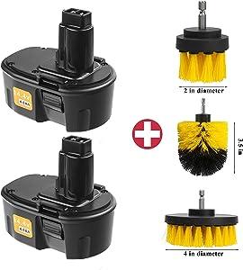 Cell9102 2Packs 14.4V 4000mAh Ni-Mh Replacement Battery for Dewalt 14.4V Battery XRP DC9091 DW9091 DW935 DE9038 DE9091 DE9092