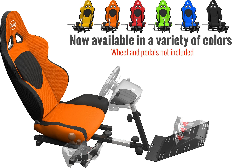 0929be55d2eb Amazon.com  Openwheeler GEN2 Racing Wheel Stand Cockpit Orange on ...