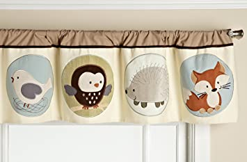 Carters Forest Friends Valance Tan Choc