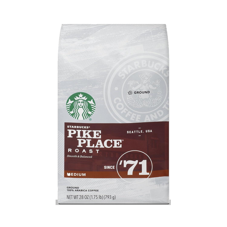 Starbucks Pike Place Roast Medium Roast Ground Coffee, 28-ounce bag