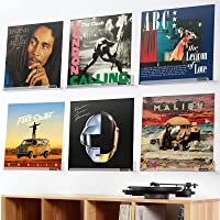OAPRIRE Vinyl Record Holder Shelf Set of 6 - Display for Your Favorite LP Records - Best Clear Acrylic Record Shelf Wall…