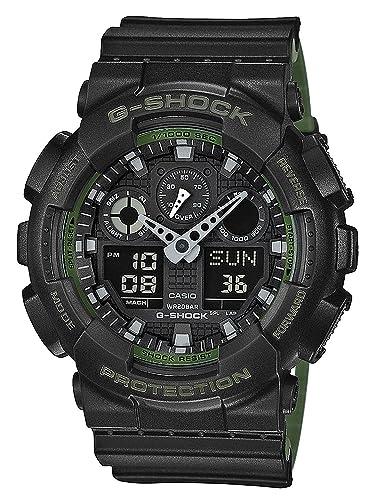 a036e46917f91 Casio Reloj Analógico-Digital para Hombre de Cuarzo con Correa en Resina GA-100L-1AER   Amazon.es  Relojes