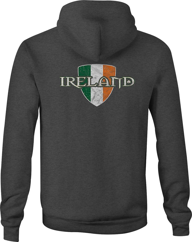 Zip Up Hoodie Ireland Irish Flag Hooded Sweatshirt for Men