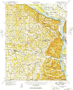 YellowMaps Altenburg MO topo map, 1:62500 Scale, 15 X 15 Minute, Historical, 1949, 20.7 x 16.9 in