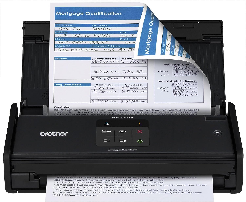 Brother ADS-1000W Scanner 600 x 600 DPI Scanner ADF Noir - Scanners (215,9 x 863,6 mm, 600 x 600 DPI, 1200 x 1200 DPI, 24 bit, 8 bit, 16 ppm)