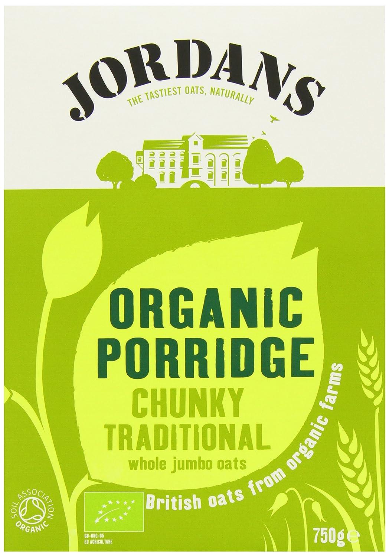 Jordans Organic Porridge Oats 750 g (Pack of 6) JOR-OPG6