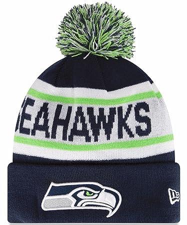 37077319 Amazon.com : Seattle Seahawks New Era Biggest Fan Redux Knit Beanie ...