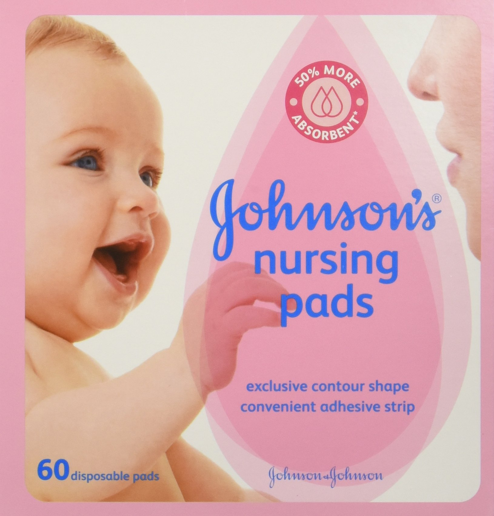 Johnson's Disposable Nursing Pads with Natural Cotton, Super Absorbent, Comfortable, and Breathable, Natural Contour…