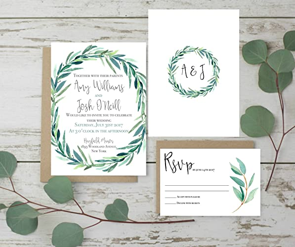 Amazon Wedding Invitations Set Rustic Wedding Invites – Handmade Rustic Wedding Invitations