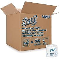 Scott Essential Professional Papel higiénico de fibra 100% reciclado a granel para negocios (13217), rollos estándar de…
