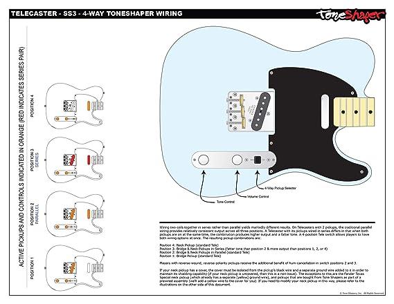 ToneShaper Guitar Wiring Kit, For Fender Telecaster, SS3 (4-Way ToneShaper on