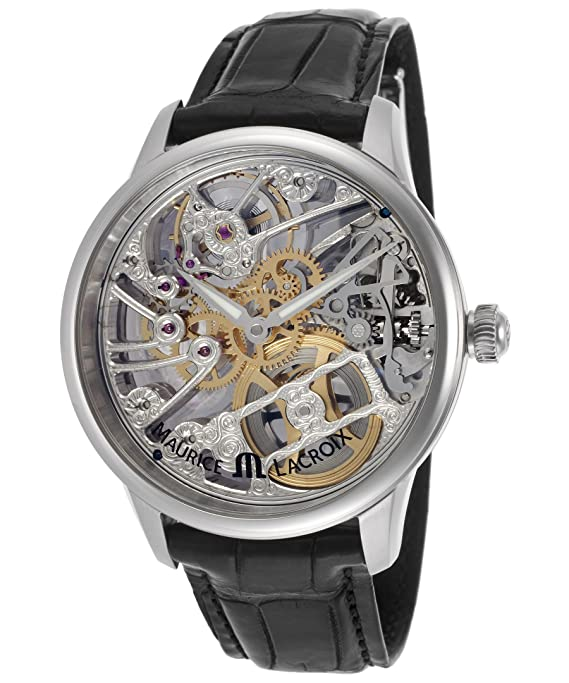 Men's Masterpiece Squelette Tradition Mechanical Silver-Tone Skeletonized Dial