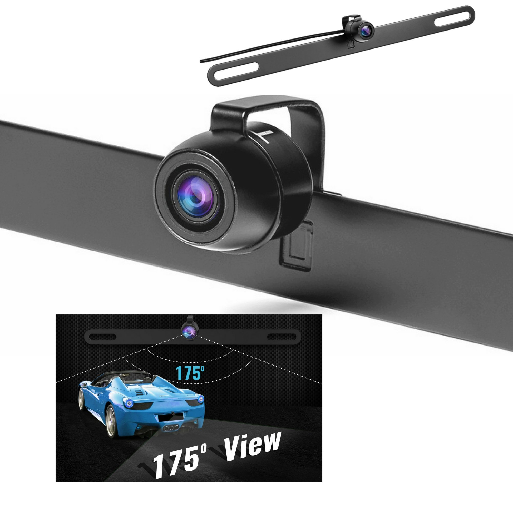 Hidden License Plate Backup Camera, Upgraded Rear View Camera With 2 Install Method, Best For Trucks, Cars, TTP-C13B Reverse Camera- IP68 Waterproof & Night Vision Back Up Car Camera