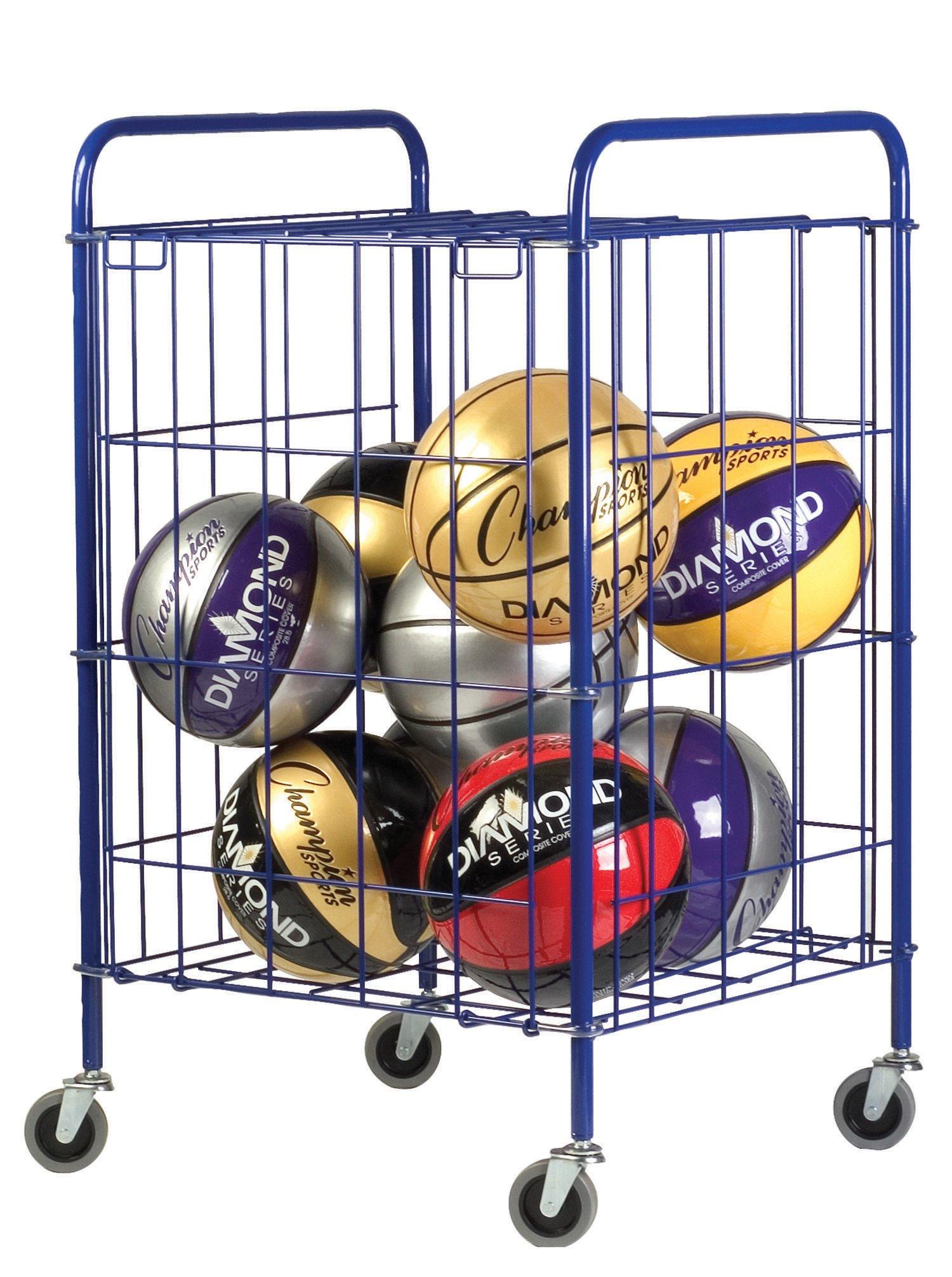 Champion Sports Half Size Lockable Ball Storage Locker (23 Inch x 22 Inch x 37 Inch)