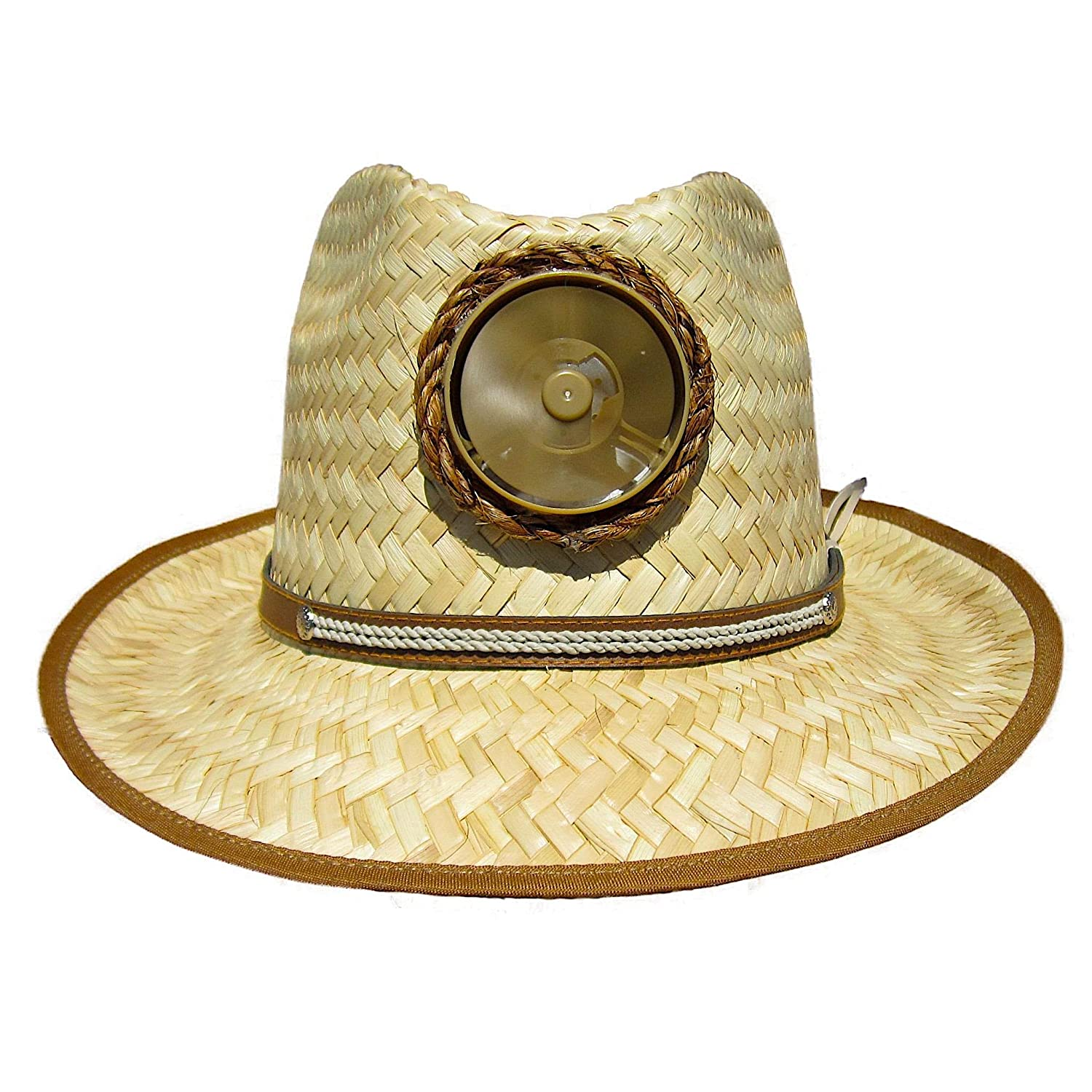 f4d5d521 Amazon.com: Fedora Sun Hat Cooling Solar Powered with Fan Natural Straw  Cool UPF 50+ Protection (Thin Band): Sports & Outdoors