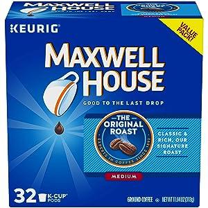 Maxwell House Original Medium Roast K-Cup Coffee Pods (32 Pods)
