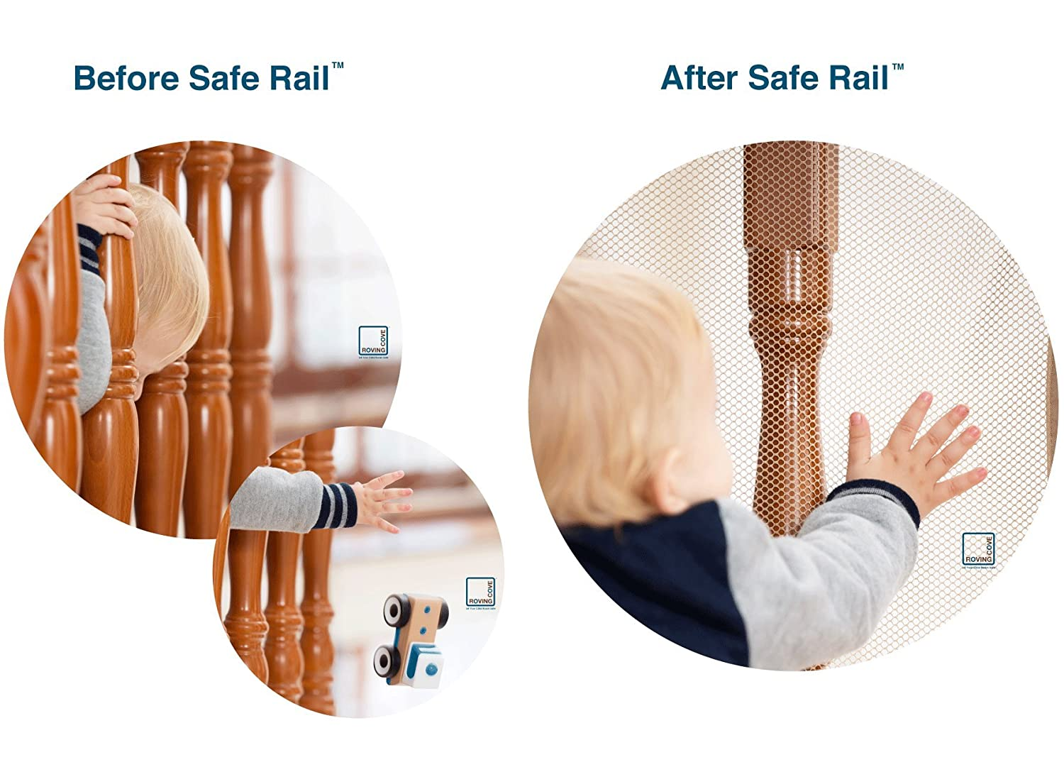 Superb Amazon.com : Roving Cove Safe Rail   10ft L X 3ft H   INDOOR Balcony And  Stairway Safety Net   ALMOND Color   Banister Stair Net   Child Safety; Pet  Safety; ...