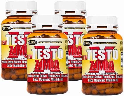 Estimulante de la testosterona natural 4 paquetes NEW TESTO X ZMA 100 cps - 70 gr
