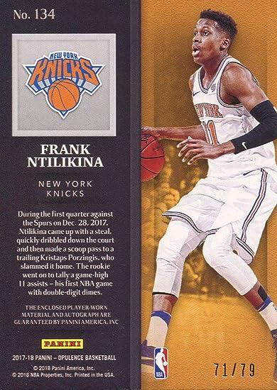 Frank Ntilikina Autographed 2017-18 Panini Opulence Rookie ...