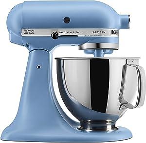 KitchenAid KSM150PSVB Artisan Stand Mixer, 5 quart, Matte Velvet Blue