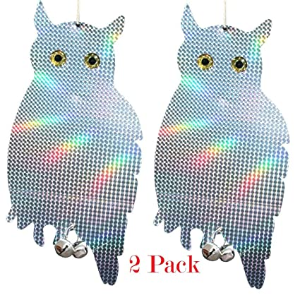 Bird Scare Owls Pest Repellent Deterrent Control Device Keep Birds Away  From Your Home