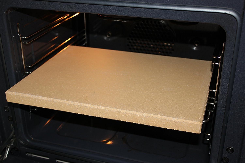 Placa de piedra Premium para Pizza, Pan, Flammkuchen, de chamota