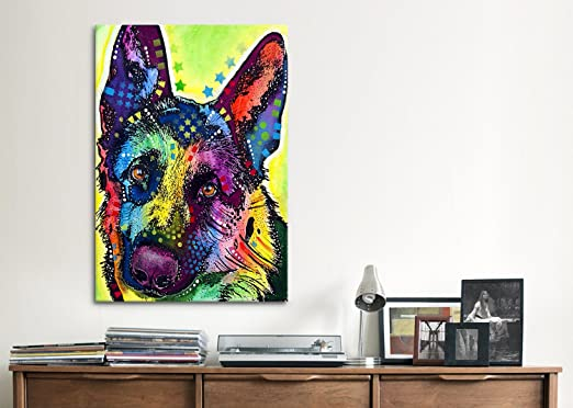 iCanvasART German Shepherd by Dean Russo Canvas Art Print