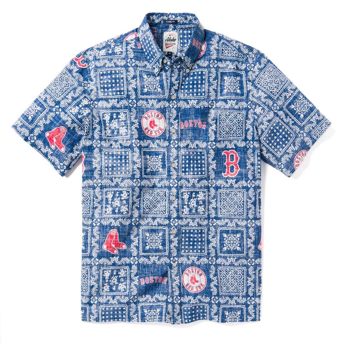8ede7054 Reyn Spooner Men's Boston Red Sox MLB Classic Fit Hawaiian Shirt at Amazon  Men's Clothing store: