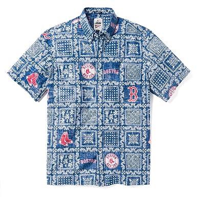 d9e4ca56 Reyn Spooner Men's Boston Red Sox MLB Classic Fit Hawaiian Shirt, Lahaina  2019, Small