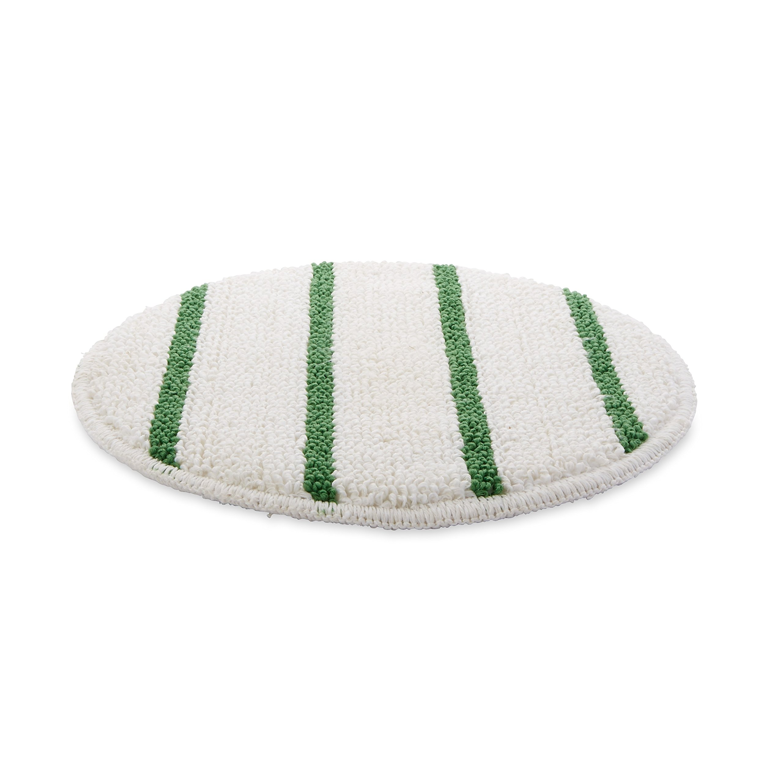 Rubbermaid Commercial Low-Profile Carpet Bonnet with Green Scrubber Strips, 17'', FGP26700WH00 by Rubbermaid Commercial Products (Image #1)